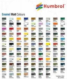 HUMBROL  ENAMEL TINTA MATT -  14 ml SMALTO PER MODELLISMO