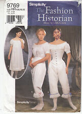 Simplicity Chemise Drawers Corset Historic Fashions Underwear Sew Pattern 9769