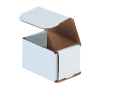 """1-500 Choose Quantity 3x2x2 Corrugated White Mailers Packing Boxes 3"""" x 2"""" x 2"""""""