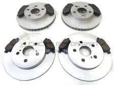 FRONT & REAR BRAKE DISCS & PADS FOR TOYOTA PRIUS 1.8 HYBRID 2009-2015
