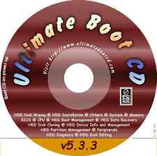 Ultimate CD BOOT 5.3.3 ubcd PC STRUMENTI RIPARAZIONE Recover DISC Utilities 130 + Apps