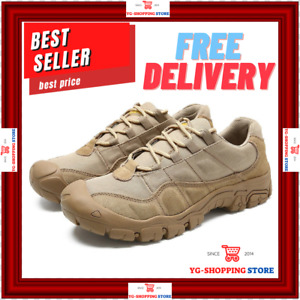 Men's Army Military Tactical Work Sneakers Leather Combat Outdoor Shoes