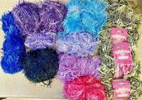 Knitting-900g Lot Fancy Yarn-Fringe-Various Colours-Crafts-Embellishments-F