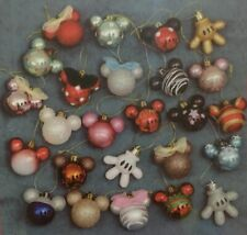Selection of 10 Disney Mickey/Minnie Mouse Head & Hand Shaped Christmas Baubles
