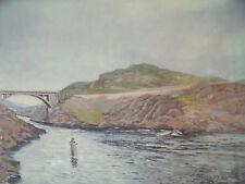 "HARVEY D. SANDSTROM ""LANGA BREIDAN"" FISHING PRINT  PENCIL SIGNED & NO. 31/200"