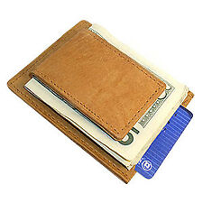 MWmed910R Magnetic Money Clip Leather Card Holder