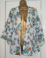 LADIES SELECT  KIMONO JACKET TOP SIZE 12, Floral Summer Holiday Kaftan COVER UP