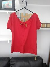 Ladies Very Trendy BNWT Red Back Tie Top by Evie Size 14