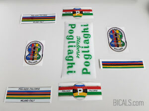 POGLIAGHI 50s 60s green decal set sticker complete bicycle FREE SHIPPING