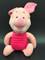"DISNEY PIGLET SOFT TOY PINK PIG PLUSH 12"" - WINNIE THE POOH CHRISTMAS GIFT"