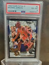 MICHAEL JORDAN 1992 Fleer Total D #5 Chicago Bulls HOF PSA 6 💎 BEST 6 EVER 💎