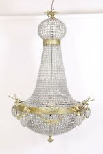 LIGHTING CRYSTAL BRASS CHANDELIER WITH DEERS 175 cm  GOLD #MB780