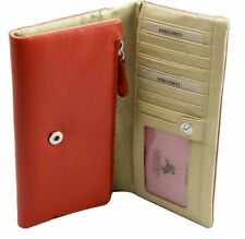 Visconti CSM8 Ladies Leather Wallet Checkbook Purse Clutch ID Trifold Gift Box
