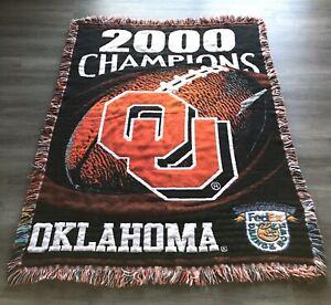 VTG Oklahoma Sooners 2000 Orange Bowl Champions Northwest Company Blanket/Throw