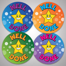 144 Well Done Star School Reward Stickers Kids Children Teacher Award 30mm Size