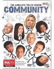 Community : Season 3 (DVD, 3-Disc Set) NEW AND SEALED, FREE POST IN AUSTRALIA