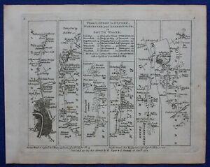 LONDON, UXBRIDGE, HIGH WYCOMBE, OXFORD original antique road map, Jefferys, 1775