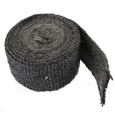 4.5cm x 4.5m Exhaust Header Pipe Turbo Insulating Heat Wrap High Temp Tape Black