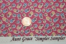 """AUNT GRACE """"SIMPLER SAMPLER"""" QUILT FABRIC CIRCA 1930's BTY FOR MARCUS 5864-0326"""
