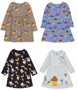 HEY DUGGEE GREY/BLUE/NAVY & PALE GREY PRINTED DRESS  - New
