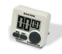Salter Mini Timer Electronic Digital Kitchen Timer - White & Black - 398 WHXR