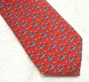 Vineyard Vines Black Labs Pattern Boys' Necktie NWT $49.50 Made in USA Red