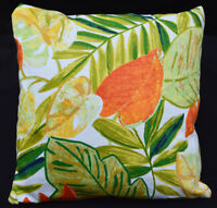 LF804a White Green Yellow Orange leaf Cotton Canvas Cushion Cover/Pillow Cover