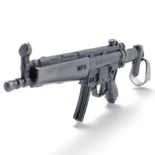 Stainless Steel Heckler & Koch MP5 Submachine Toy Gun Replica Pendant Necklace