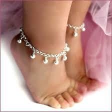 Chumchum Silver Plated Children Kids Baby Bangle Bracelet Anklet toned bells 6in