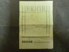"""HABIMA RAHAB THEATER PRIGRAM HANA ROVINA AS RAHAB 1930"""" ISRAEL"""
