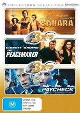 The Sahara  / Peacemaker  / Paycheck (DVD, 2007, 3-Disc Set) VGC Pre-owned (D87