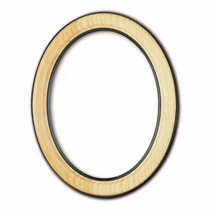 Oval Frame 3 1/2x5 1/8in To 19 11/16x27 5/8in, with Glass And Back Panel