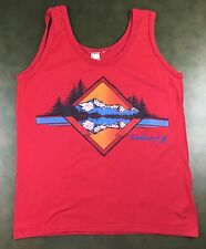 Vintage Mens S 80s Ruidoso New Mexico Souvenir Sleeveless Graphic Red Tank Top