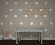 Silver Polka Dot Vinyl Decal Sticker Wall Art Nickos Graffix