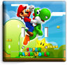 NEW SUPER MARIO YOSHI LUIGI DOUBLE LIGHT SWITCH COVER WALLPLATE DS NINTENDO WII