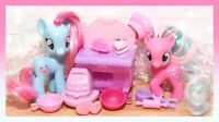 ❤️My Little Pony Brushable Mrs. Dazzle Cake Twirly Treats Celebration Bakery❤️