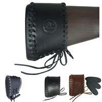 Slip on Recoil Pad Genuine leather Black Hunting Shotgun Gun Rifle Buttstock New