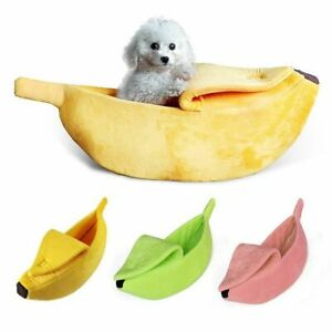 Banana Shaped Pet Cave Bed Sleeping Bag Warm Cozy for Cat Kitten Dog Puppy
