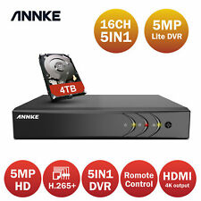 Annke 16Ch/4Ch/8Ch 5Mp Lite H.265+ Dvr Video Home Surveillance Security Recorder