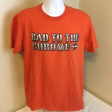 Harley Davidson Mens T-Shirt Large Orange M&S Chambersburg PA Bad to the Chrome