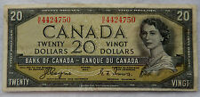 """1954 Canada 20 Dollar """"Devil's Face"""" Banknote P.70.a """"Coyne - Towers"""" SB3878"""