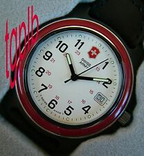 "NOS Mens SWISS ARMY Watch~""The FAMOUS"" RED 2000 ORIGINAL~Marlboro Adventure Team"