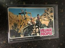 THE VILLAGE PEOPLE 1979 BAND PHOTO DONRUSS ROCK STARS SERIES CARD 24 NEAR MINT