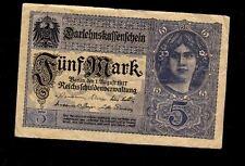 Germany, Banknote - 5 Mark 1917 Year Xf Au