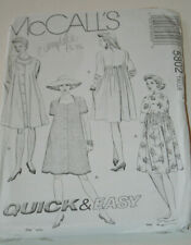 sewing pattern smock dress 4 styles size 12