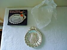 "Vintage "" Nos "" ? Silver Plated Scalloped Tray "" Beautiful Collectible Item """