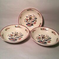 Vintage Villeroy Boch Mettlach Phoenix Pattern Lot Of 3  Cereal Bowls 6 1/4 Inch