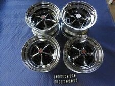 """Ford Mopar Dodge Chrsler Magnum 500 Wheels 15""""x10"""" and 15""""x7"""" With Lugs And Caps"""