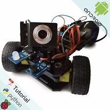 Raspberry Pi Smart Car Kit for RPi 3 Model B Three-wheeled Robot Video Camera RC