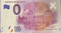 BILLET 0  EURO  CHATEAU DE VALENCAY  FRANCE 2016 NUMERO 100
